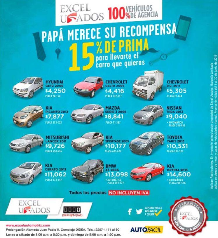 PAPA quiere estrenar auto nuevo compra carros en el salvador