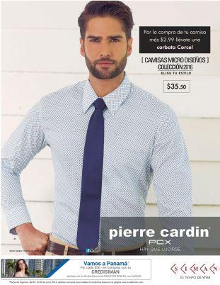 Pierre cardin Promocion camisa mas corbata en SIMAN para papa