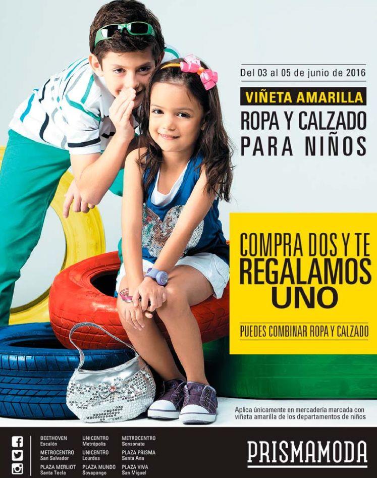 Ropa y Calzado for KIDS promociones prisma moda