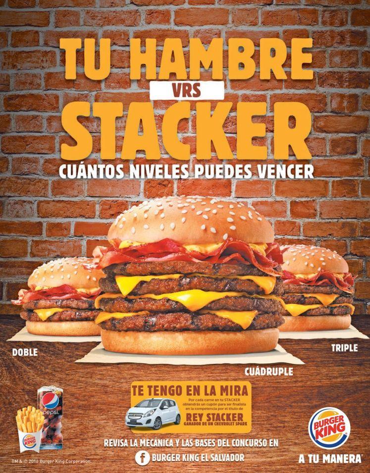 burgerking STACKER burger level