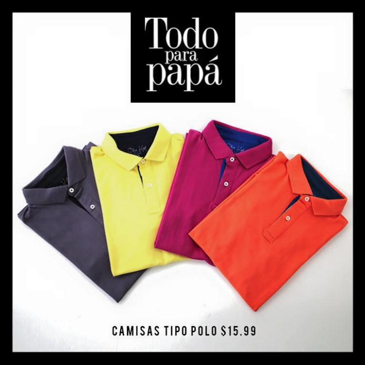 camisas tipo POLO TODO para papa en prisma moda 2016