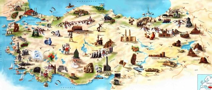 mapa turistico de turquia