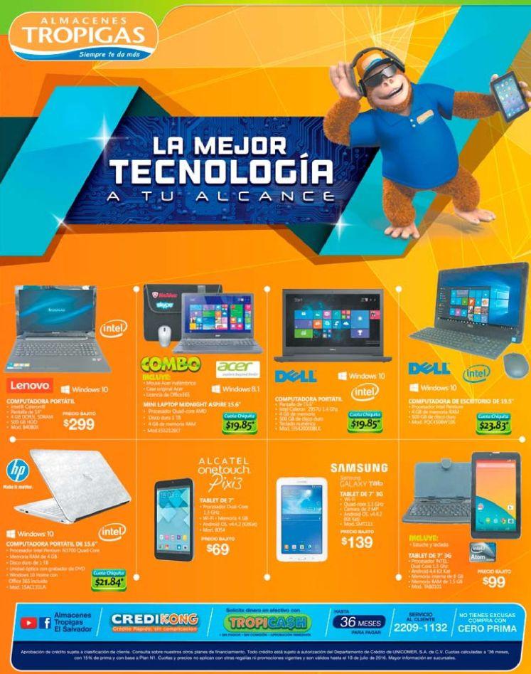 Almacenes tropigas descuentos y promociones en tecnologia JULIO 2016