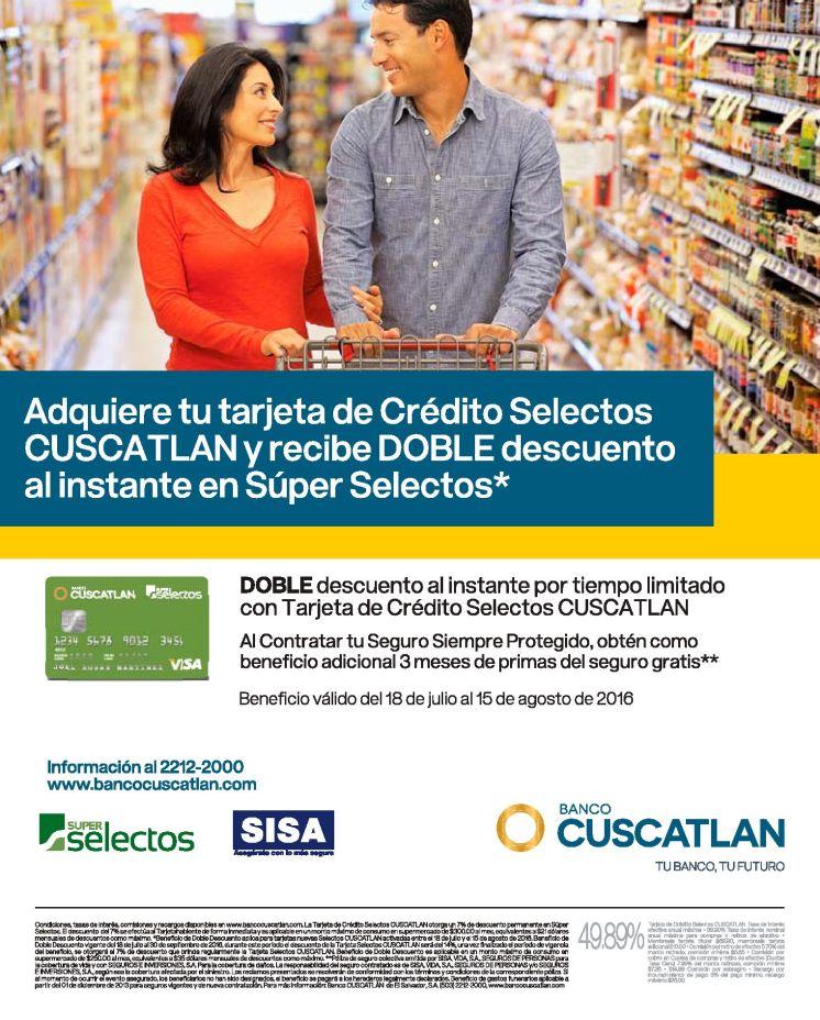 Beneficios de la nueva tarjeta de super selectos y banco cuscatlan