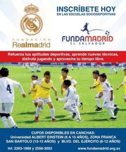 Como inscribirse en la Fundacion Real Madrid en el salvador