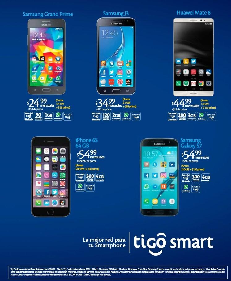 Compra tu celular nuevo en TIGO SMART el salvador