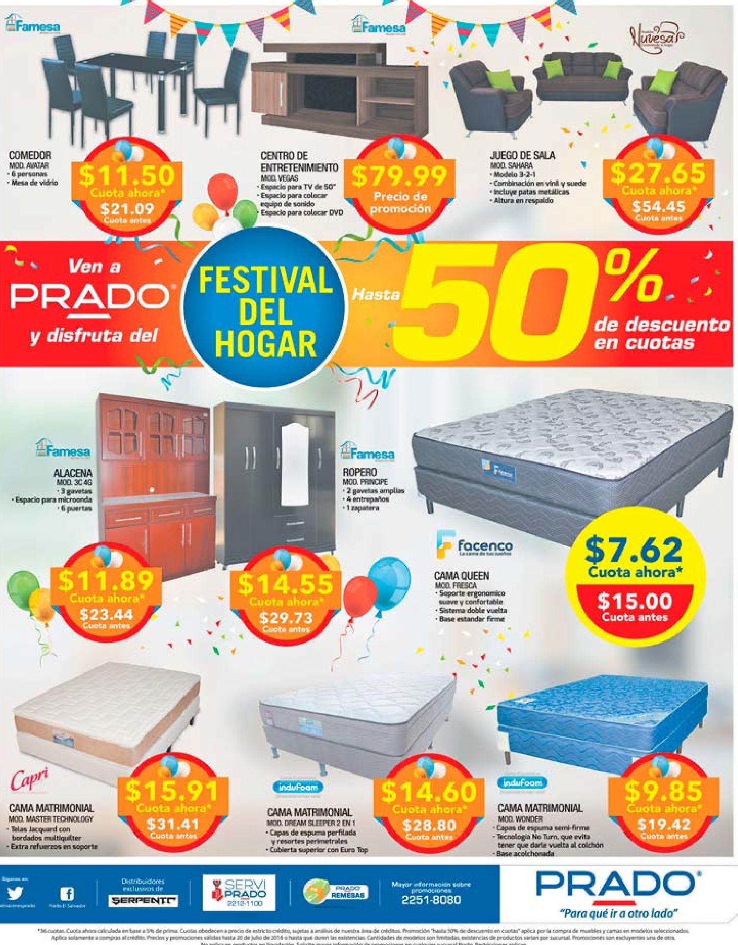 Descuento en camas y muebles de almacenes prado julio 2016 - Ofertas ...