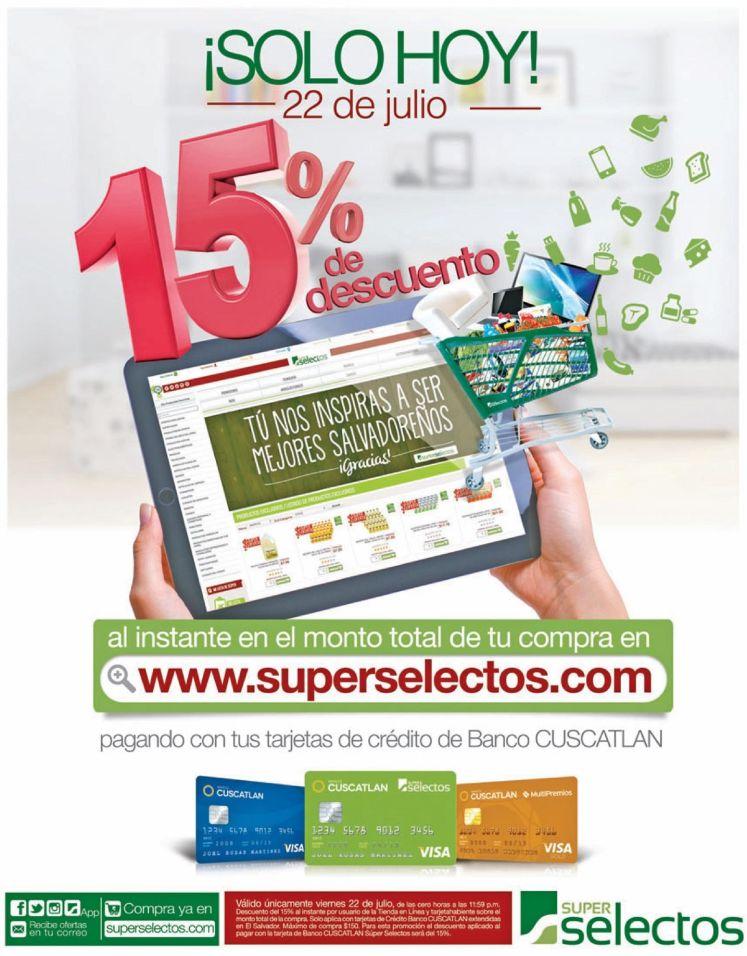SOLO HOY online disocunts FRIDAY super selectos