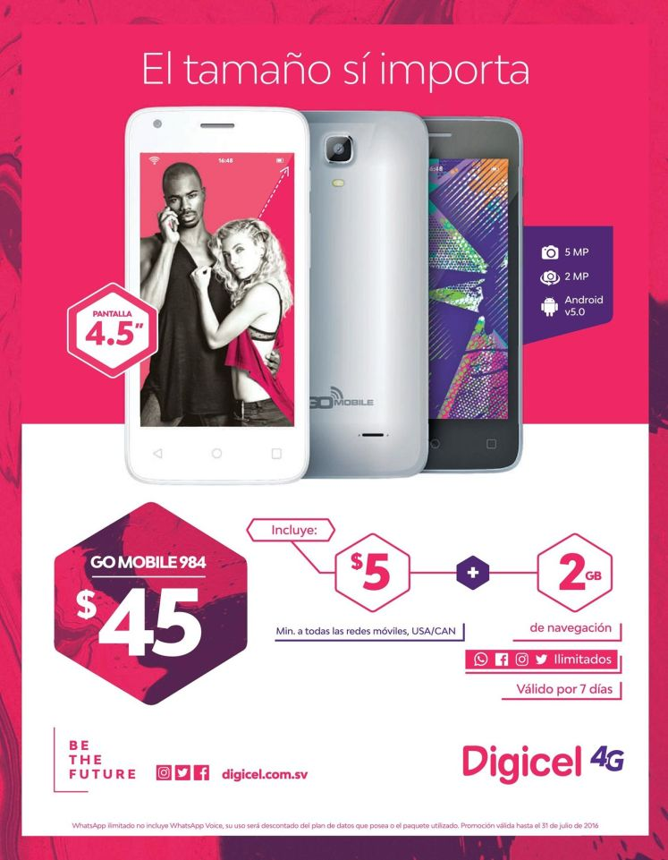 gomobile 984 smartphone DIGICEL promotions