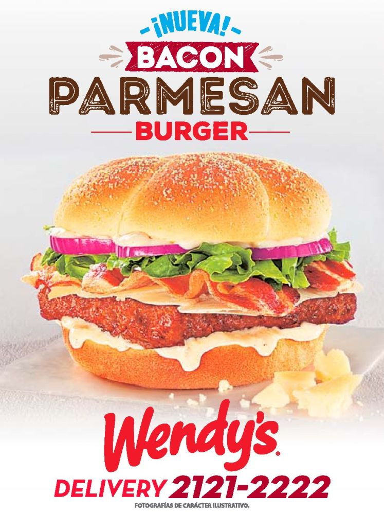 new BURGER bacon parmesan by WENDYS