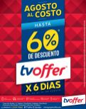 Agosto al costo PRODUCTOS TV OFFER gan oportunidad