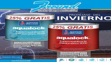 Aqualock impermeabilizante para las lluvias y temporales tropicales