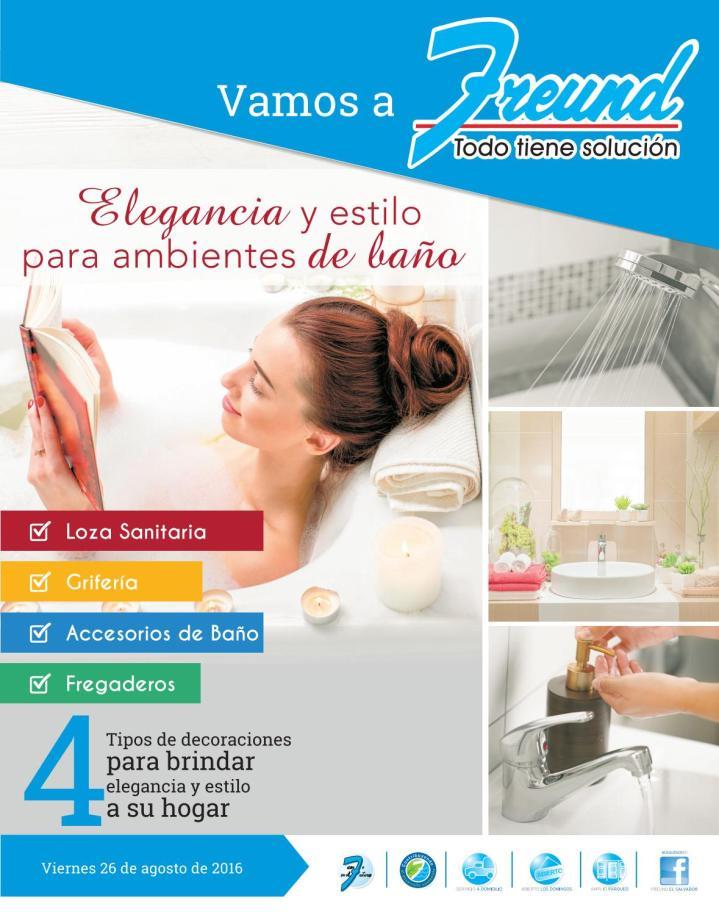 Cuadernillo de ofertas FREUND septiembre 2016 decoracion de banos