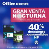 Descuento en tintas para impresores OFFICE DEPOT - 31ago16