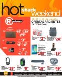 HOT shack weekend con articulos de tecnologia RADIOSHACK