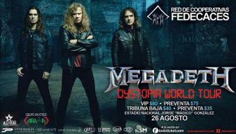 MEGADETH el salvador 2016 world tour dystopia
