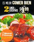 MISTER DONUT promocion de lunch ejecutivos 2x1 en noviembre 2016