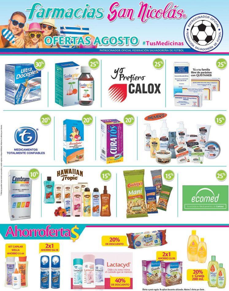 Ofertas agosto 2016 de farmacias san nicolas sv