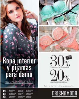 Ropa interior y pijamas para damas con descuento PRISMA MODA - 12ago16