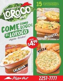TEMPORADA de especialidades con LOROCO Pizza HUT el salvador