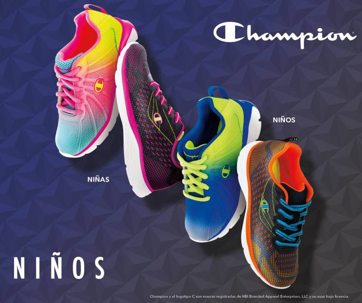 color tennis shoes CHAMPIONS brand for kids