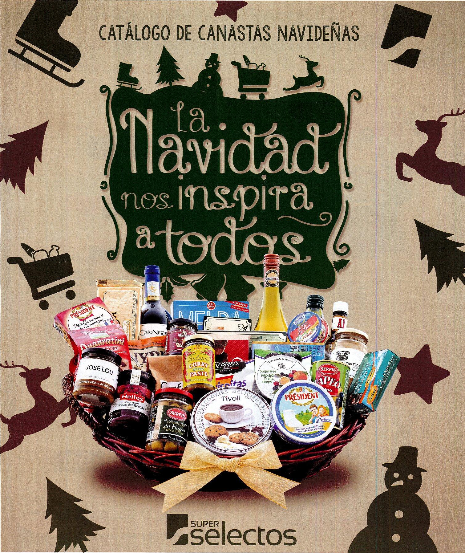 Super Selectos Catalogo de Canastas navideñas 2016