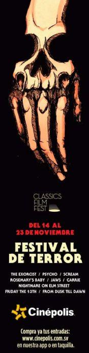 FESTIVAL DE TERROR film fest cinepolis el salvador