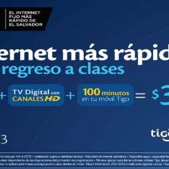 Paquete de internet de 4 megas de tigo el salvador