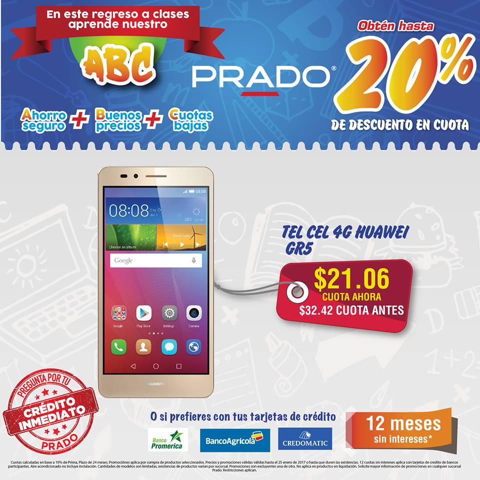 celulares PRADO ofera TEL CEL 4G huawei GR5