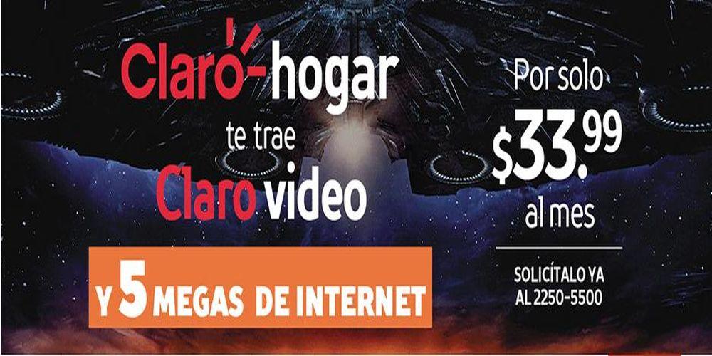 Promocion INTERNET de 5 Megas en Paquete CLARO HOGAR mas CLARO VIDEO