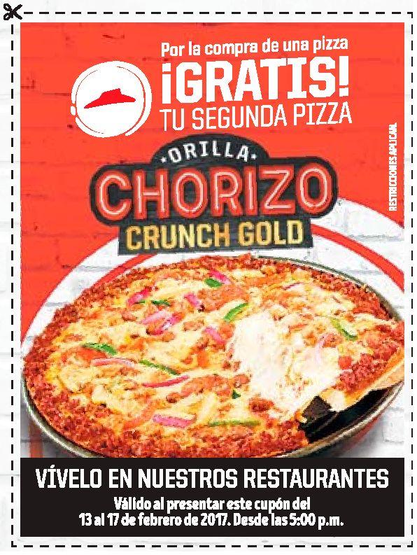 CANJEA tu cupon por una pizza gratis en pizza hut el salvador