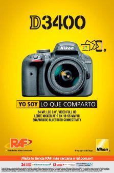 NIKON cameras d3400 promcoiones raf el slavador