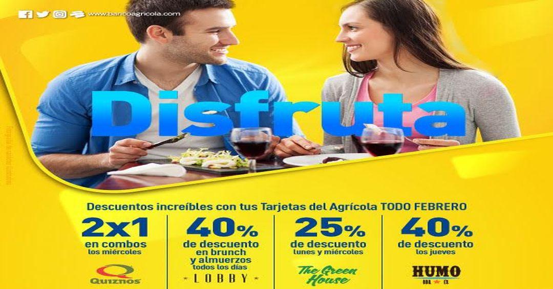 Banco Agricola promociones en restaurantes TODO Febrero 2017