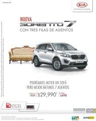 New KIA Sorento 7 con tres filas de asientos