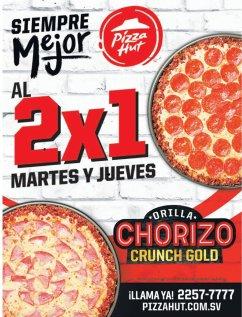 ORILLA de chorizo en tu pizza hut