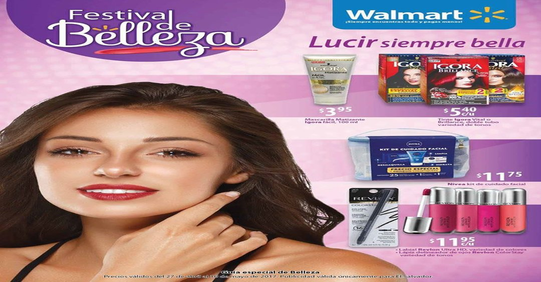 Walmart FESTIVAL de BELLEZA catalogo especial for MOTHERS