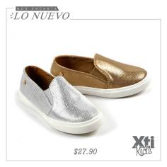 METALLIC CANVAS xti kids gold and silver