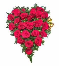 Ordena un corazon de rosas para mama