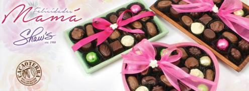 cajas CHOCOLATES shaws para el dia de las madres