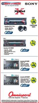 BONO en la compra de sistemas de audio y video para automoviles