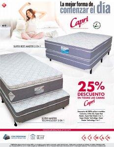 Descuento camas CAPRI Super MASTER bed technology 3 en 1