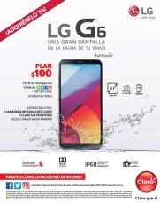LG G6 de claro en plan pospago de 100 dolares