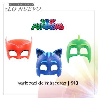 Mascaras en tamaño real de los PJ MASK DISNEY studios