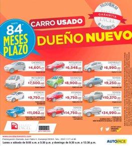 Ofertas de carros usados para el mes de junio 2017