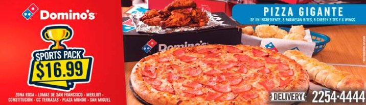 PIZZA DOMINOS combo sports pack