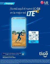 Plan pospago TIGO LTE con celular LG G6