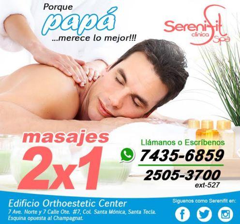 Promocion de masajes relajantes para PAPA en su dia