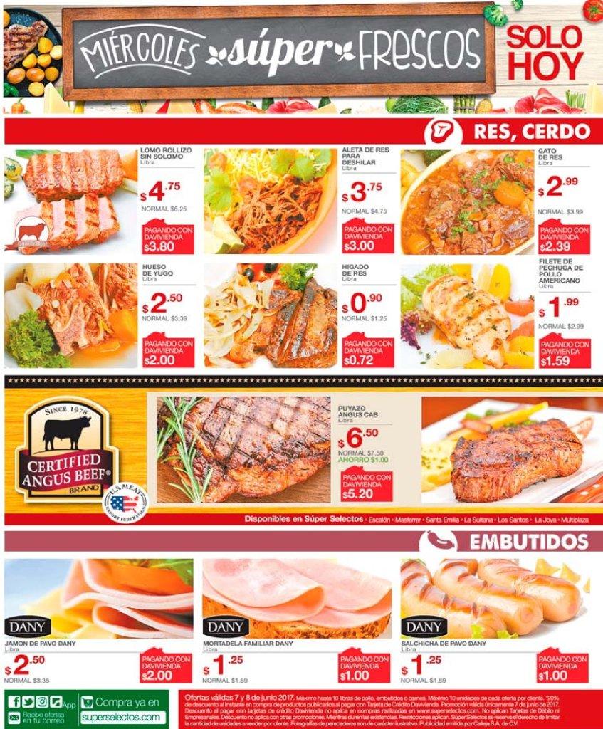 Super Selectos ofertas miercoles frescos - 07jun17