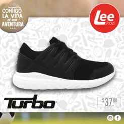 Tenis de color negro TRUBO lee shoes