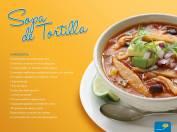 como preparar una sopa de tortillas
